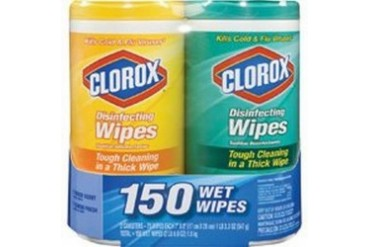 6 Pack Clorox Company 01599 Disenfecting Wipes Twin Pack
