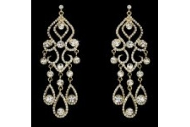 Elegance By Carbonneau Earrings - Style E8274-GoldClear