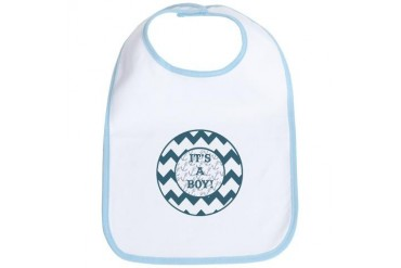 Coastal Its A Boy Baby Bib by CafePress