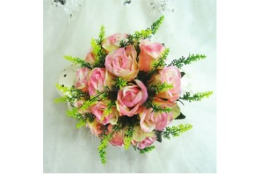 Fancy Round Artificial Silk Bridesmaid Bouquets (123048082)