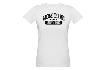 Mom To Be July 2013 Baby Organic Women's T-Shirt by CafePress