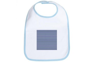 Blue White Nautical Stripes Art Bib by CafePress