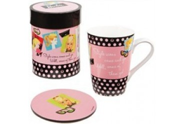 Barbie Style Icons Come and Go 16 oz. Ceramic Mug Set