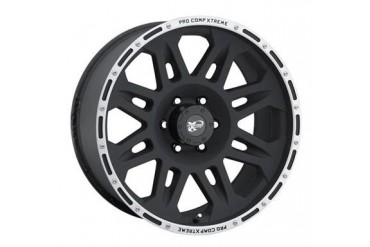 Pro Comp Alloy Wheels Series 7105, 17x8 with 6 on 5.5 Bolt Pattern - Flat Black 7105-7883 Pro Comp Xtreme Alloy Wheels