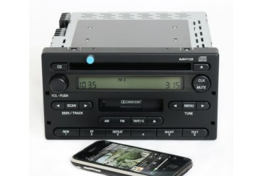 Ford Ranger 2004-05 Radio AMFM CD Cassette w Bluetooth Music 4L5T-18C868-AF