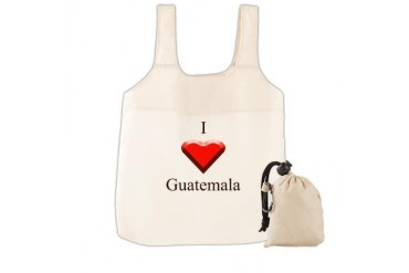 I Love Guatemala I love Reusable Shopping Bag by CafePress