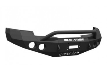 Road Armor Pre-Runner Guard Front Stealth Winch Bumper in Satin Black 33404B Front Bumpers
