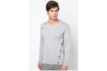 Long Sleeve T-Shirt With Side Button