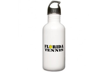 Florida Tennis.png Tennis Stainless Water Bottle 1.0L by CafePress