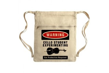 Cello Student Sack Pack Music Cinch Sack by CafePress