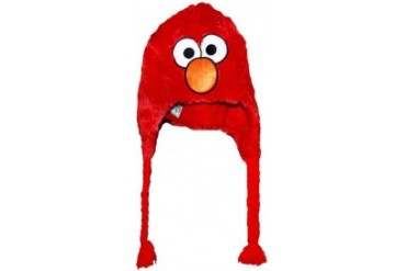 Furry Sesame Street Hats - Furry Elmo Hat