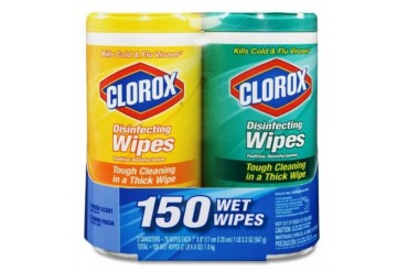 Clorox 01599 Disinfecting Wipe Fresh Lemon Fresh Scent 150 Count