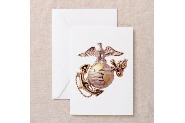 Blank Marine Corps Greeting Cards (Pk of 10)