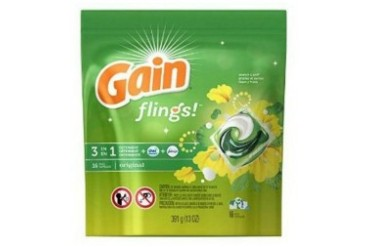 Gain Flings 3 in 1 Laundry Detergent Pacs Original Scent