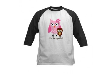Big sister owl Kids Baseball Jersey