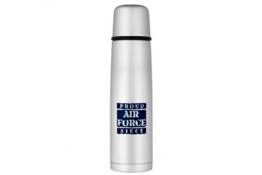 Proud Air Force Niece Large Thermos Bottle Air force Large Thermosreg; Bottle by CafePress