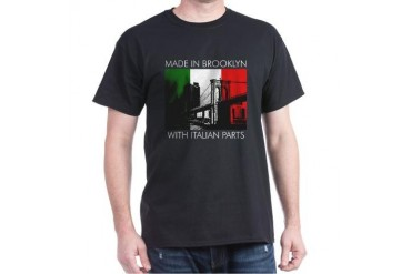 Made in Brooklyn with Italian Parts Dark T-Shirt