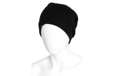 Barca Slouchy Hat with Fleece Lining in Black - designed by Plush