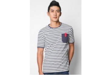 EZRA by ZALORA Red Tape Sailor Tee