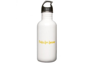 PIRATES COOL YELLA.png Funny Stainless Water Bottle 1.0L by CafePress