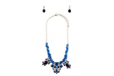 Sze Accessories Chunky Diamante Necklace