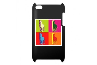 Great Dane Silhouette Pop Art Dogs Itouch4 Case by CafePress