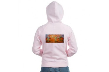 Desert, scenic southwest landscape Women's Zip Ho Art Women's Zip Hoodie by CafePress