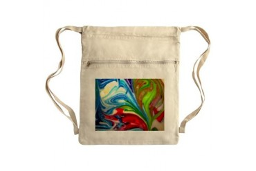 Heart In Love Sack Pack Art Cinch Sack by CafePress