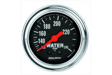 Auto Meter Traditional Chrome Mechanical Water Temperature Gauge 2433 Gauges