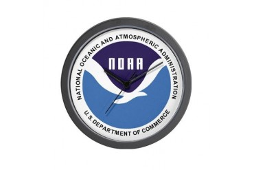 NOAA Clock Environment Wall Clock by CafePress