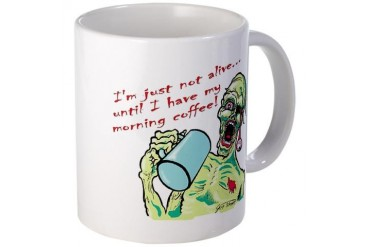 Coffee Zombie Funny Mug by CafePress