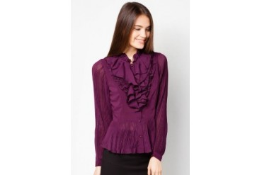 Absolu Ruffled Office Blouse