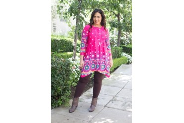 Plus Size Lucy Tunic Top -Paisley