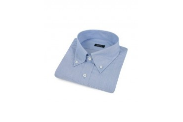 Blue Micro-Stripe Button Down Cotton Dress Shirt