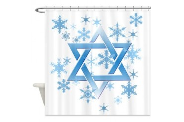 winter david.png Funny Shower Curtain by CafePress