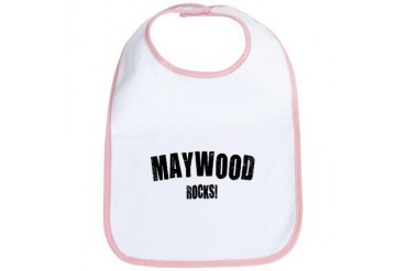 Maywood Rocks California Bib by CafePress