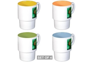 1956 Yugoslavia Sea Horse Postage Stamp Stackable Vintage Stackable Mug Set 4 mugs by CafePress