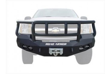 Road Armor Front Stealth Winch Bumper with Titan II Guard in Satin Black 37202B Front Bumpers
