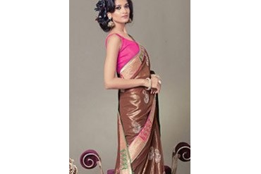 Beautiful Look Embroidered Georgette Saree