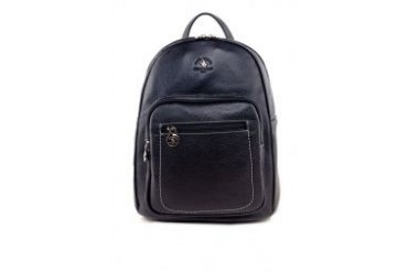 Santa Barbara Polo & Racquet Club Leather Backpack