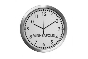 Minneapolis Newsroom Modern Wall Clock