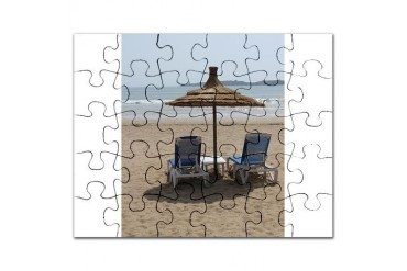 Moroccan Beach Beach Puzzle by CafePress