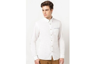 Celio Long Sleeve Solid Shirt