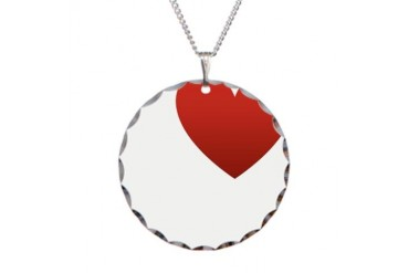 i-love-you.png Love Necklace Circle Charm by CafePress