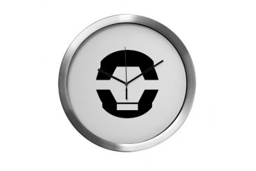 Didact Glyph Black Librarian Modern Wall Clock by CafePress
