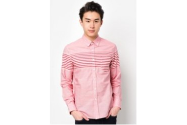Long Sleeve Shirt With Striped Panel