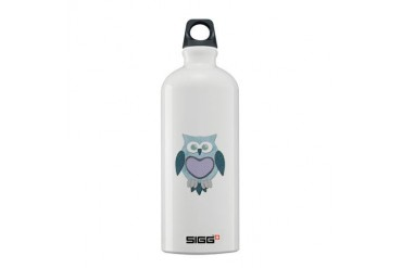 Blue Winter Owl Animal Sigg Water Bottle 0.6L by CafePress