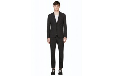 Dsquared2 Grey Crosshatch Wool Suit