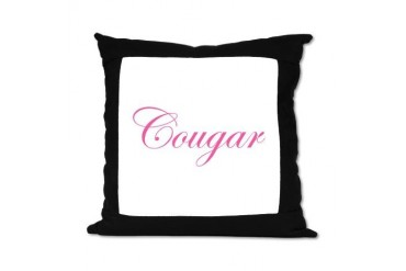 Cougar 16 Pillow Funny Suede Pillow by CafePress