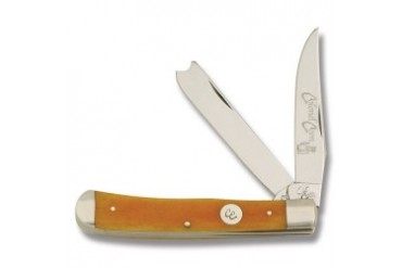 Colonel Coon Razor Trapper with Autumn Gold Smooth Bone Handle